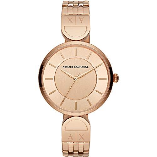 Armani Exchange Damen Analog Quarz Uhr mit Edelstahl Armband AX5328