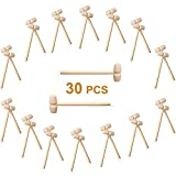 30 Pcs Mini Wooden Hammer - Wooden Mallet for Seafood Parties, Jewelry Making, Leather Crafts and Other Mini Mallet