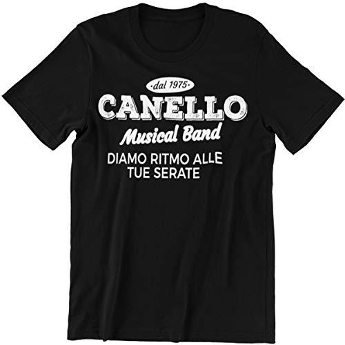 Vulfire Maglietta Uomo dal 1975 Canello Musical Band (Nero, XL)