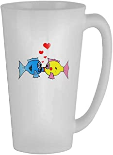 Kiss Fish Mug 17 Oz 🏆 Mens Novelty Ceramic Gifts Tea Cup/Humor/Retirement Coffee Cup Office Mug Gift/Perfect Gift for Family and Friends🎁