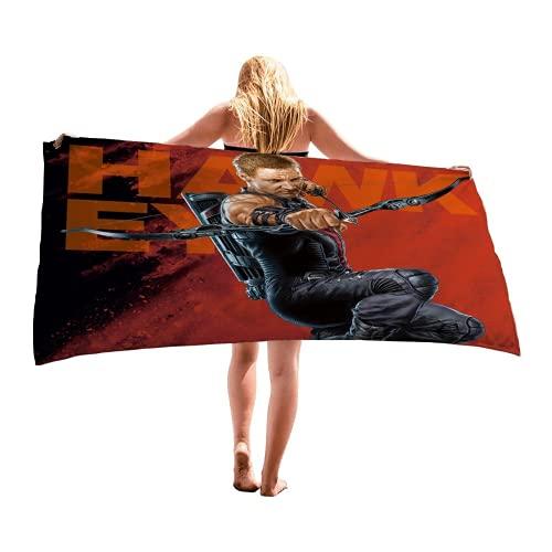 JNMG Toalla de playa de microfibra – Toalla de baño superabsorbente – Toalla de baño – Manta de yoga, portátil supersuave toalla de mano Anime para adultos (19,80 x 155 cm)