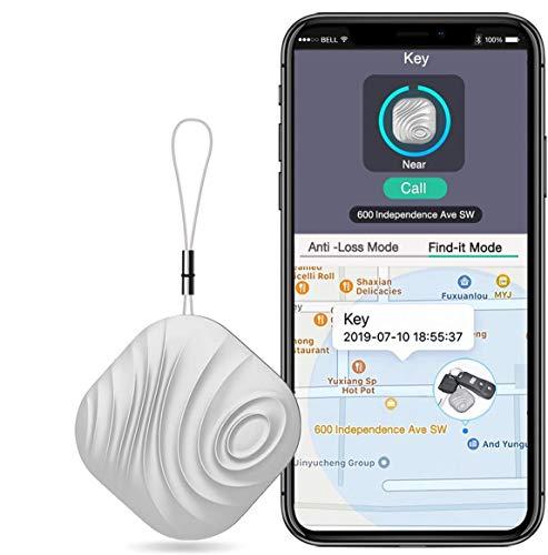 Buscador de llaves, rastreador de artículos, cartera, localizador de teléfono, localizador multifuncional de tuerca, localizador de objetos inalámbrico, llavero para iOSAndroid, funciona con Bluetooth