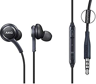 Samsung headset type AKG original first grade with leather ear EO-lG955 - Gray and Check the box in the pictures