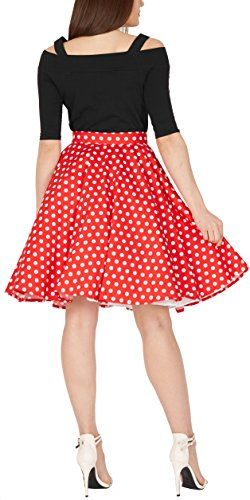 BlackButterfly Polka-Dots 1950er-Jahre Swing Tellerrock (Rot, EUR 42 – L) - 3