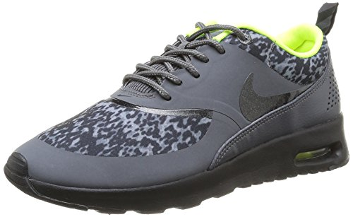 NIKE Wmns Nike Air Max Thea Print Womens Running Shoes Wmns Nike Air Max Thea Print Dark Grey/Black-Volt 3.5 UK, 36.5 EU
