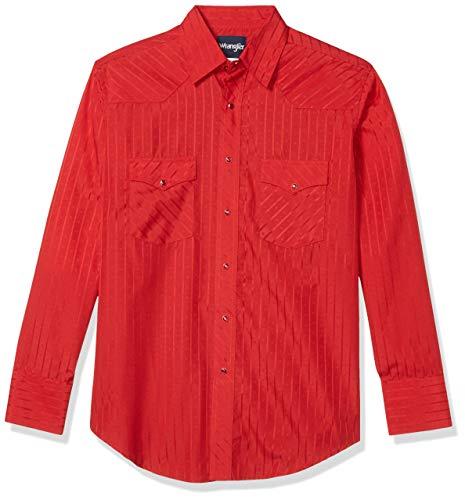 Wrangler Herren Sport Western Langarm Snap Shirt - Rot - XX-Large