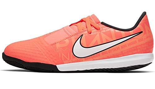 Nike, Zapatillas de fútbol Sala Unisex Adulto, Naranja, Blanco y Negro, 36.5 EU