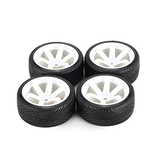 Ba30DEllylelly 4 Piezas 64mm llanta de plástico Duro Rueda de neumático para 1/10 RC Drift Modelo de Coche HSP HPI componente repuestos Accesorios