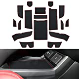 YEE PIN Car Door Mats: Custom Fit Door Gate Slot Mats Non-Slip Liner Mats for Acura RDX 2019 2020 2021 Center Console Liner Mats Non-Slip Mats 18 Pcs/Set