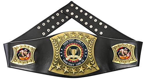 Express Medals Custom Wrestling Trophy Personalized Championship Leather Belt FCL576