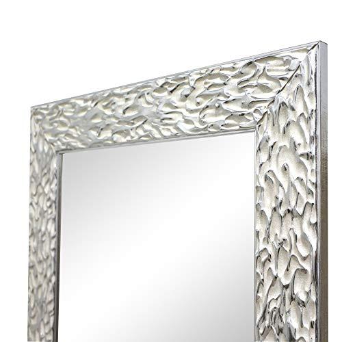 Espejo de Pared, Fabricado en España | Varios Tamaños y Colores | Ideal para Salón, Recibidor, Vestidor, Dormitorio y Baño. | (1038 Plata, 56x149 cm)