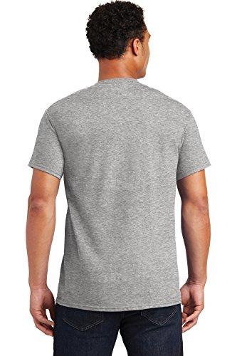 Gildan mens Ultra Cotton Adult Pack fashion t shirts, Sportgrey/Royal, Medium US