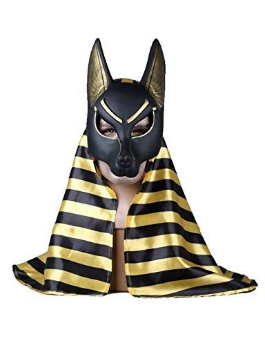 Kugga Máscara De Disfraces De Halloween Pañuelo Incluido Máscara COS for Decoración / Colección, Anubis De La Muerte