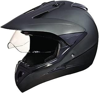 Studds Motocross Plain SUS_MVPFFH_MBLKXL Full Face Helmet with Plain Visor (Matt Black, XL)