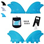 Ho Stevie! Fiberglass Reinforced Polymer Surfboard Fins - Quad (4 Fins) FCS or Futures Sizes, with Fin Bag, Screws, Wax… 7 🏄♂️ QUAD FINS fit any surfboard that uses FCS (original or FCS II) or Futures fins (select which kind) - whether it's a shortboard, funboard, or longboard. 🌊 BALANCED FIN TEMPLATE is suited for all types of waves. Hit the accelerator at your favorite point break, boost some airs, or lay into some wedges at the nearest beachbreak. 🎁 INCLUDES EVERYTHING YOU NEED: 4 surfboard fins, wax comb / fin key / bottle opener, fin screws, and travel case.