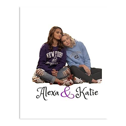 Alexa and Katie - Póster tipográfico moderno para niña, diseño de oficina