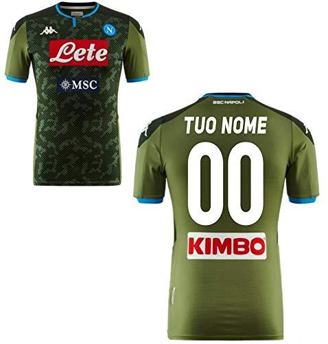 MAESTER DEL Calcio Trikot Gara Home S.C. Napoli 2019/2020 Personalisiert (CALLEJON James MANOLAS MILIK Mertens Lozano) (Vestibilita' Slim), M