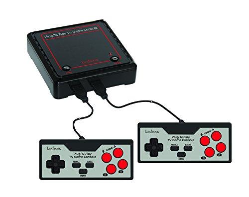 LEXIBOOK Consola De Televisión con 300 Juegos Vídeo Interactivos Deportivos, Negro/Gris/Rojo, JG7800...