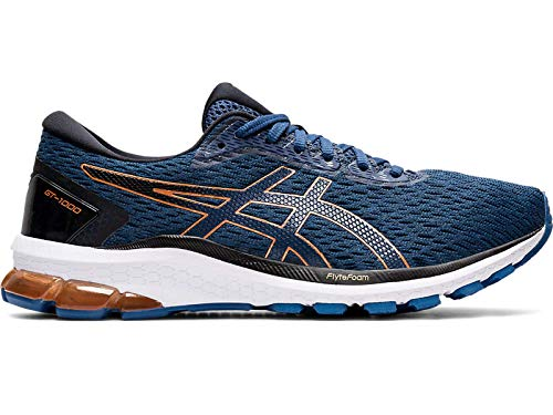 ASICS Mens GT-1000 9 Running Shoe, Magnetic Blue/Black, 46.5 EU