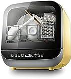 XUERUIGANG Lavavajillas de encimera, lavavajillas portátiles, 5 programas, para pequeños Apartamentos, dormitorios y RVs (Amarillo)
