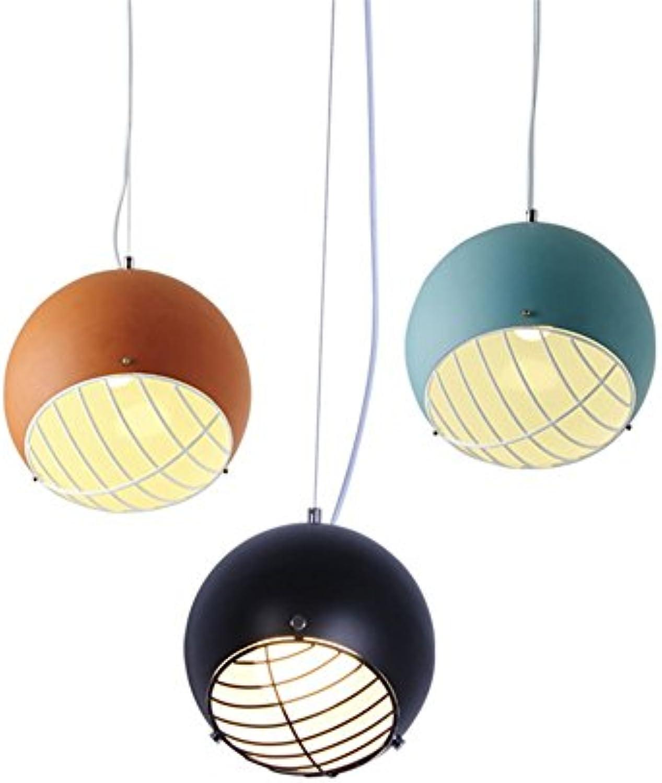 GrowtherHOME Nordic Pendelleuchten Ball modernen minimalistischen europischen Schlafzimmer Wohnzimmer Studie Gang Restaurant Droplight persnliche LED-Beleuchtung, blau