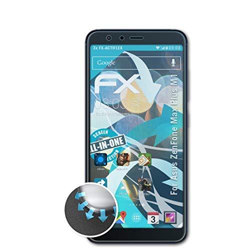 atFolix Schutzfolie kompatibel mit Asus ZenFone Max Plus M1 Folie, ultraklare & Flexible FX Bildschirmschutzfolie (3X)