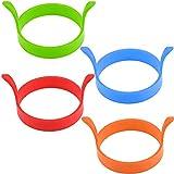 XYDZ 8PCS Anillo de Huevo de Silicona, Round Egg Rings Mold Anillos de Silicona Antiadherente Egg Ring Pancake Mold de Huevo Frito Perfectos para Tortitas Resistentes al Calor Moldes (Color)