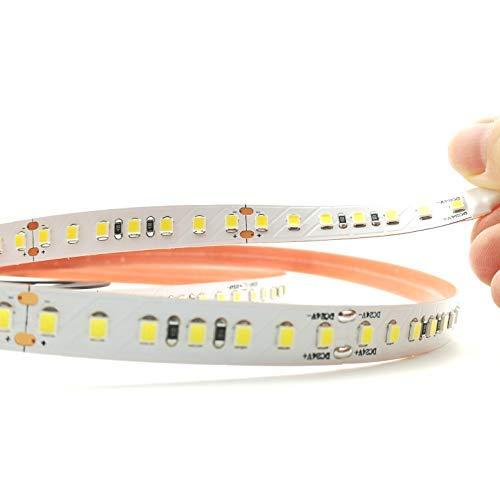 Rouleau 5 mètres bande lumineuse 600 lED 2835 sMD lumière à choix 5 mt 24 V DC avec adhésif double face 3 M Mod. Premium 6000 K Luce Fredda (White)