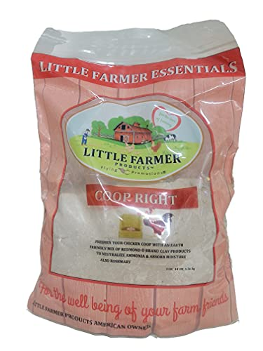 LITTLE FARMER PRODUCTS Coop-Right Chicken Coop Natural Poultry Dust Bath Nest Freshener Odor Eliminator | Redmond Clay, Earth Powder, Rosemary | 3 lb…