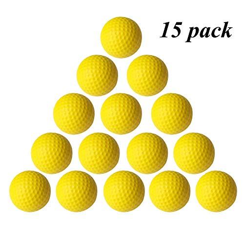 VUXYMCY Golfbälle für Innen- und Außenbereich, elastisch, PU-Schaumstoff, gelb