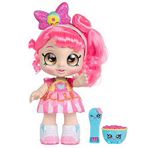 Kindi Kids Snack Time Friends - Pre-School Play Doll, Donatina - for Ages 3+   Changeable Clothes and Removable Shoes - Fun Snack-Time Play, for Imaginative Kids