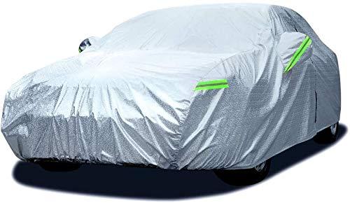 Fundas para coche Dripex sedán cubierta del coche a prueba de agua de lluvia de polvo Sun UV for cualquier estación Protección impermeable con cremallera de algodón for Automóviles sedán cubierta Fit