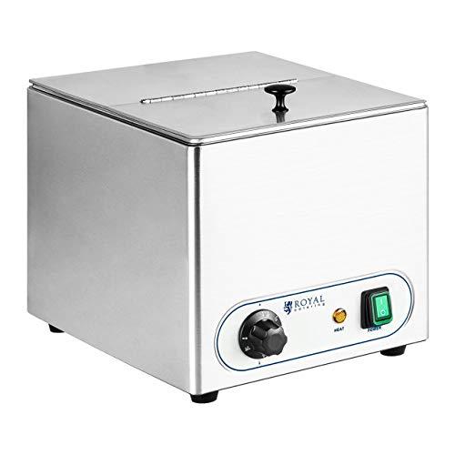 Royal Catering Chauffe-saucisses RCHW-1000 (1000W, 10L, activité chauffante par air chaud, plage de température 30 – 90 °C, inox)