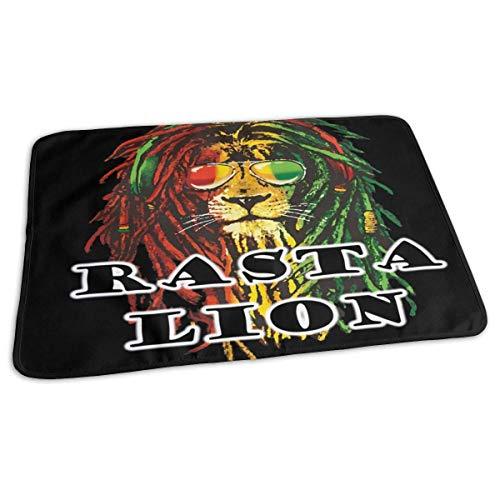 Rasta Lion Matelas à langer réutilisable pour bébé 27,5 x 19,7 cm