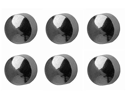 6 paires Studex grande 5mm traditionnelle balle plate en acier inoxydable réglage de la lunette oreille Piercing boucles d'oreilles