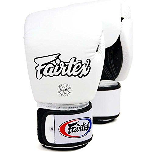 Fairtex Boxhandschuhe, BGV-1 AIR, weiß, Boxing Gloves MMA Muay Thai Thaiboxen Size 10 Oz