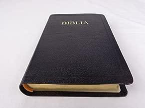 Black Genuine Leather Romanian Bible / Thumb Index, Golden Edges / Biblia sau Sfanta Scriptura Cu Trimiteri / Words of Christ in Red / Traducerea Dumitru Cornilescu 057TI Series 2015 Print