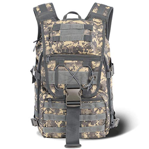 RatenKont Outdoor Military Tactical Backpack Tactical Sports Camping Hiking Fishing Hunting Camouflage Bags ACU Digital 30-40L