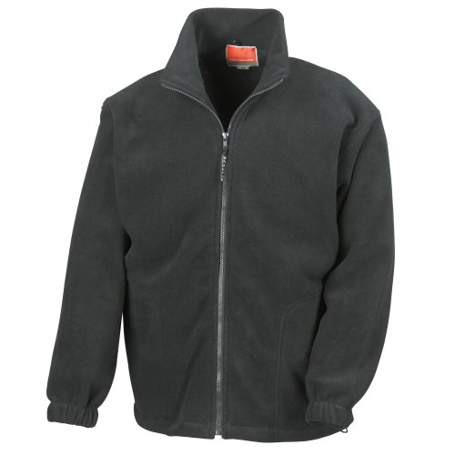 Result Herren Fleece-Jacke, Antipilling XL,Schwarz