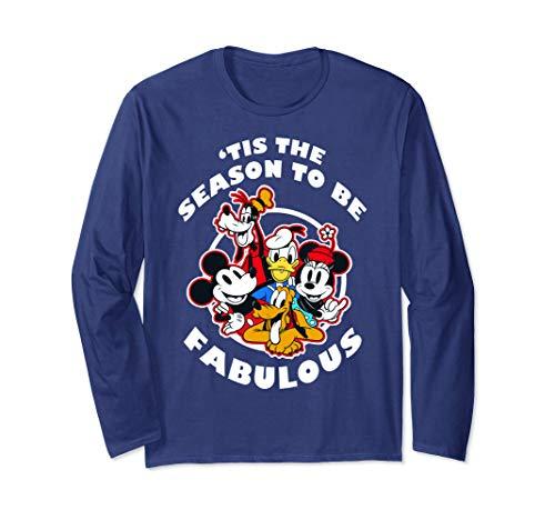 Disney Mickey And Friends Christmas Group 'Tis The Season Langarmshirt