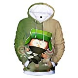 SUNCHTX Impresin 3D Unisex Chaqueta De Manga Larga Ropa Suter Pulver Sudadera con Capucha DeportivaTranspirable Fresca South Park-XL