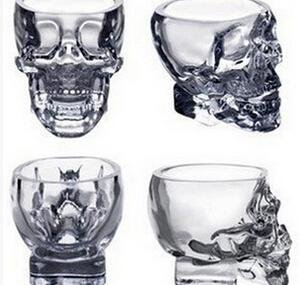 FATO. 100ml Clear Head Glass Cup Klar Schädel Wodka Whisky Cup Kreativ Transparent Bar Glass