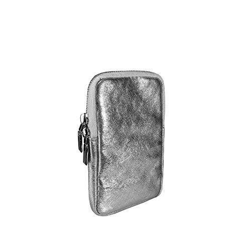 SKUTARI® LEDER Cellulare Brillante Damen Handytasche aus hochwertigem Echt-Leder,Umhängetasche,Geldbörse,mit extra langem Gurt, handgefertigt in Italien