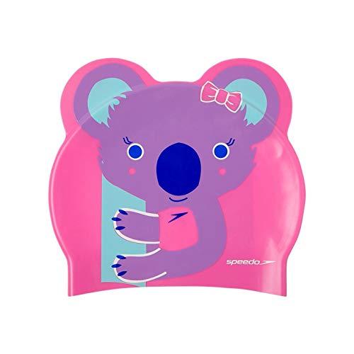 Speedo Unisex-Adult Badekappe mit Motivdruck, Galinda/Hard Candy/Marineblau, Einheitsgröße