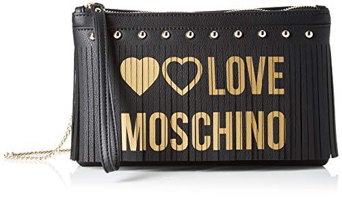 Love Moschino Borsa Pu, Borsetta da Polso Donna, (Nero), 15x3x24 cm (W...