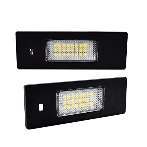 LncBoc 2pcs Car License Plate Light for E87 E81 E875D E87 F20 E63 E64 F12 F13 F06 Z4/E85 Z4/E86 Z4/E89 3W 12V 24SMD LED White Rear License Tag Lights Direct Replacement,1 Year Warranty