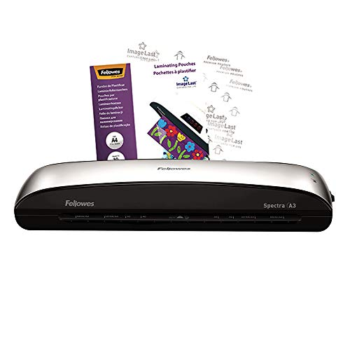 Fellowes Spectra A3 Home Office Laminator, 80-125 Micron, Including 10 Free Pouches