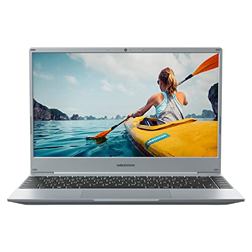 MEDION E14303 35,5 cm (14 Zoll) Full HD Notebook (AMD Ryzen 3 4300U, 8GB DDR4 RAM, 256GB SSD, AMD Radeon Vega 3, HD Webcam, Win 10 Home S Modus)