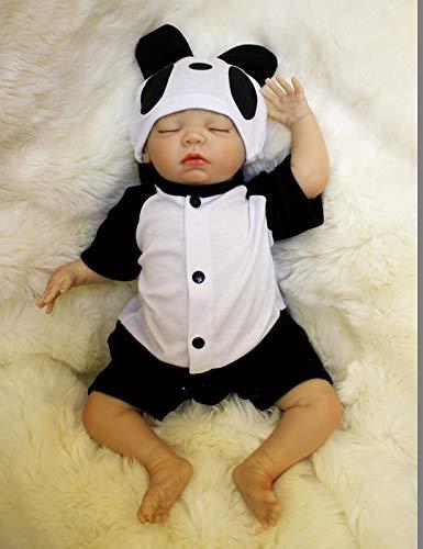 HOOMAI 18inch 45cm muñecas Reborn de Silicona Vinilo Reales Niños Bebe Reborn Baby Doll Boy Ojos Abiertos Magnetismo Juguetes