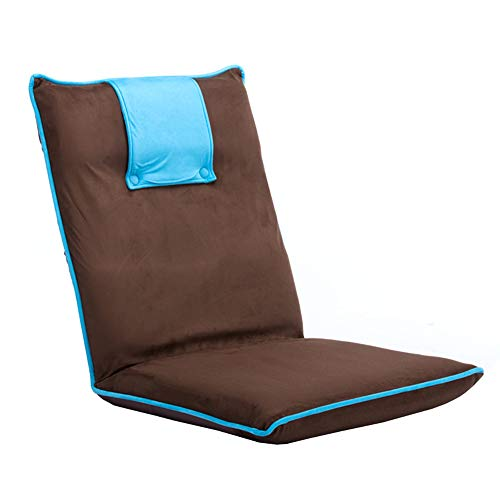LJFYXZ Canapé Paresseux Chaise Chaise d'ordinateur canapé Réglage à 5 Vitesses Facile à enlever et à Laver Doux et Confortable Salon Chambre Coussin (Couleur : Bleu)